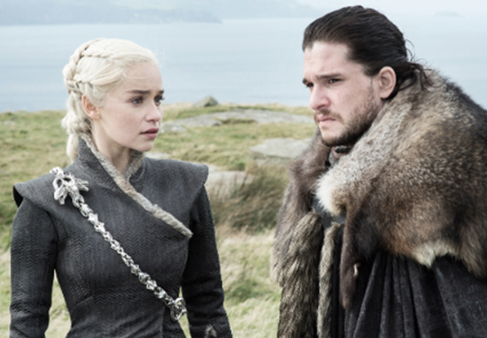 Kit Harrington discusses Jon and Dany love scene.