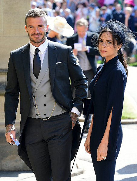 David and Victoria Beckham attend Royal Wedding of Prince Harry and Meghan Markle