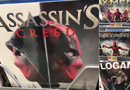 Deadpool replaces film covers