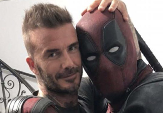 David Beckham with Deadpool actor Ryan Reynolds