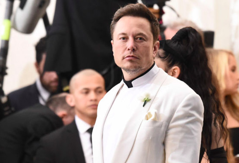 Elon Musk at the Met Gala 2018