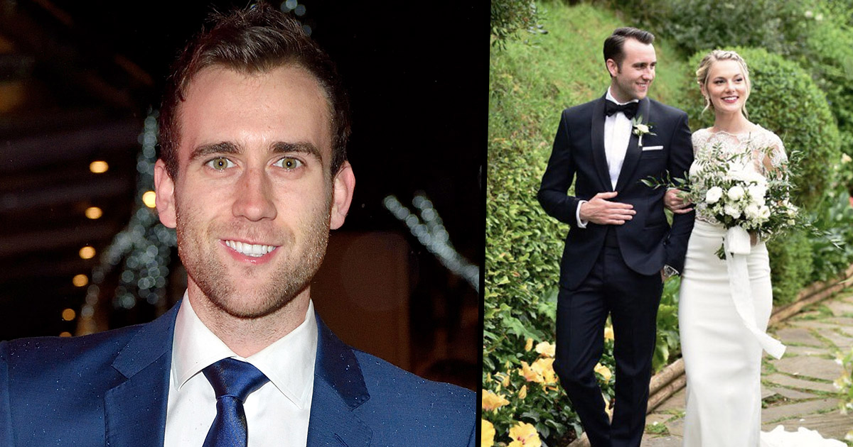 actor matthew lewis who played Neville Longbottom in the Harry Potter film series has got married