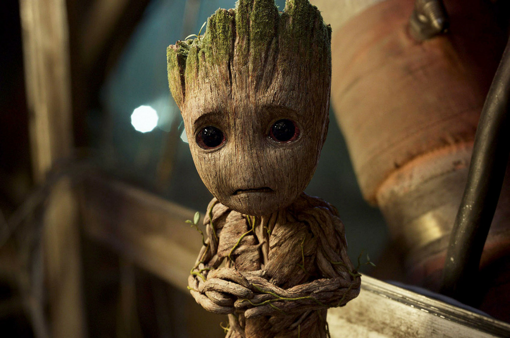 sad baby groot marvel