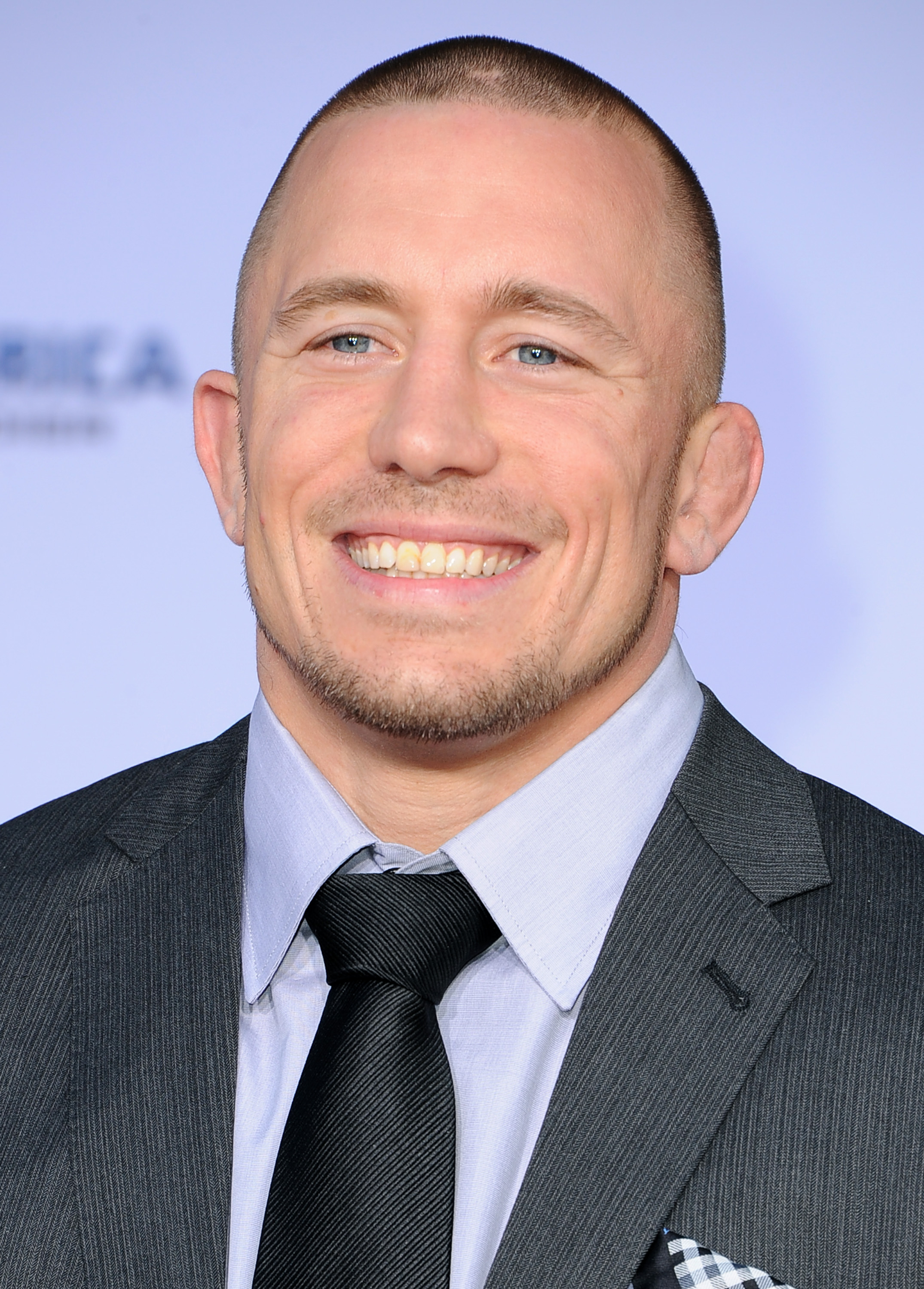 Georges St-Pierre smiles for the camera