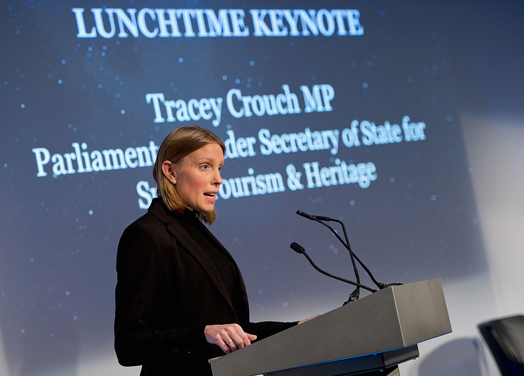 MP Tracey Crouch speaking at a conference