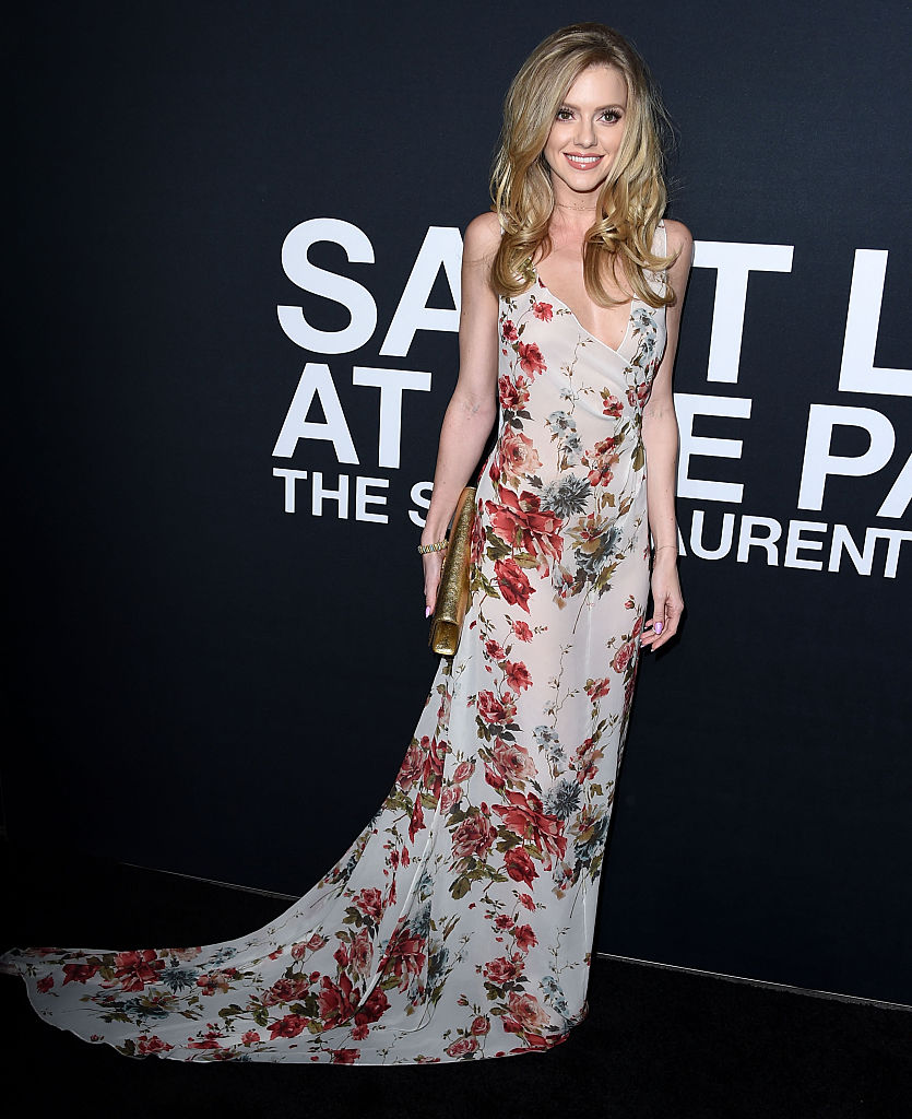 Elle Evans of Blurred Lines arrives at the SAINT LAURENT At The Palladium at Hollywood Palladium on February 10, 2016 in Los Angeles, California.
