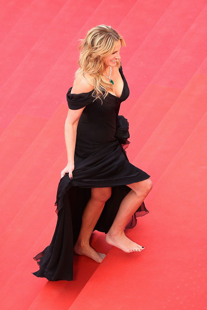 Julia Roberts removed her shoes at last year's Cannes Film Festival