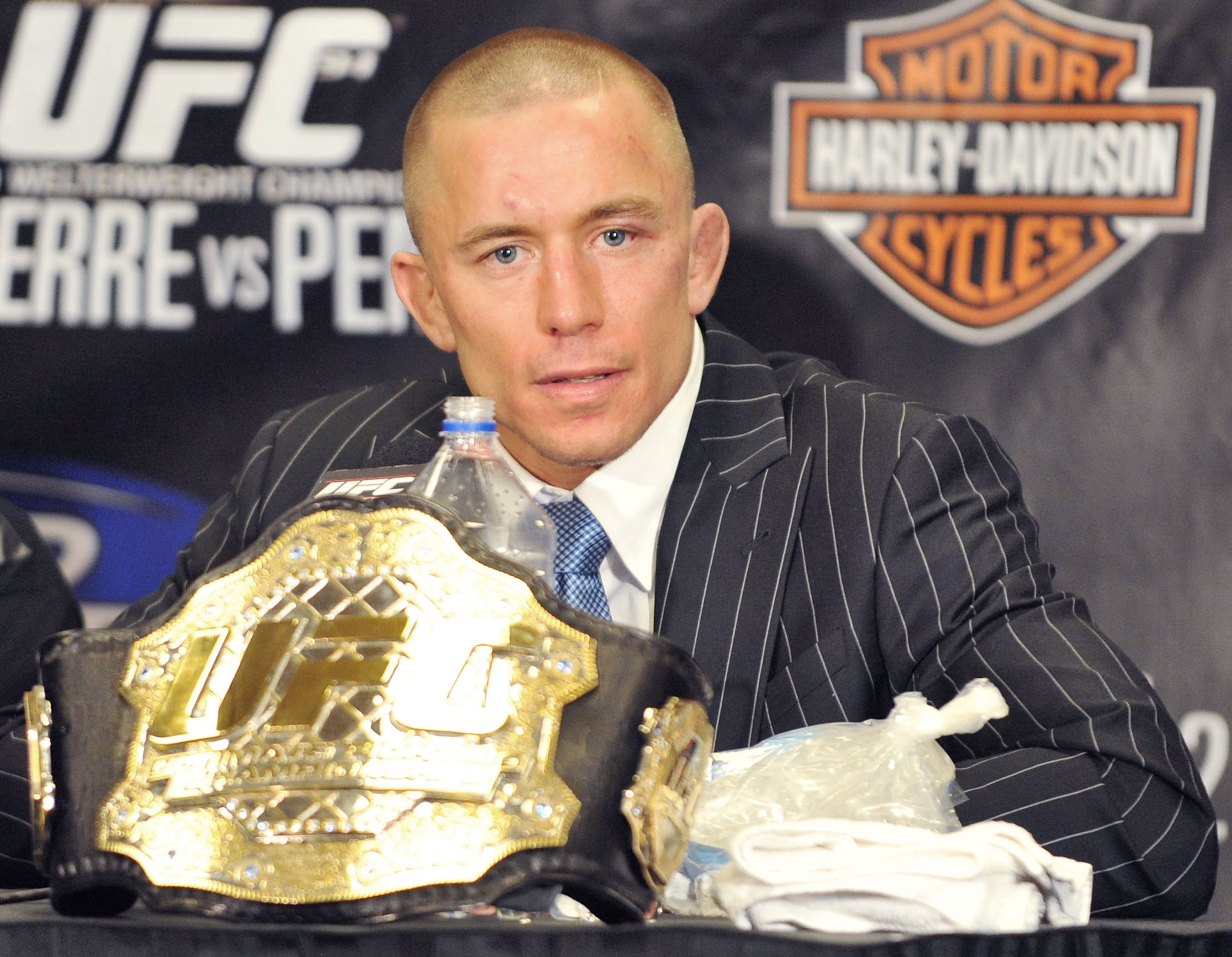 Georges St-Pierre in press conference