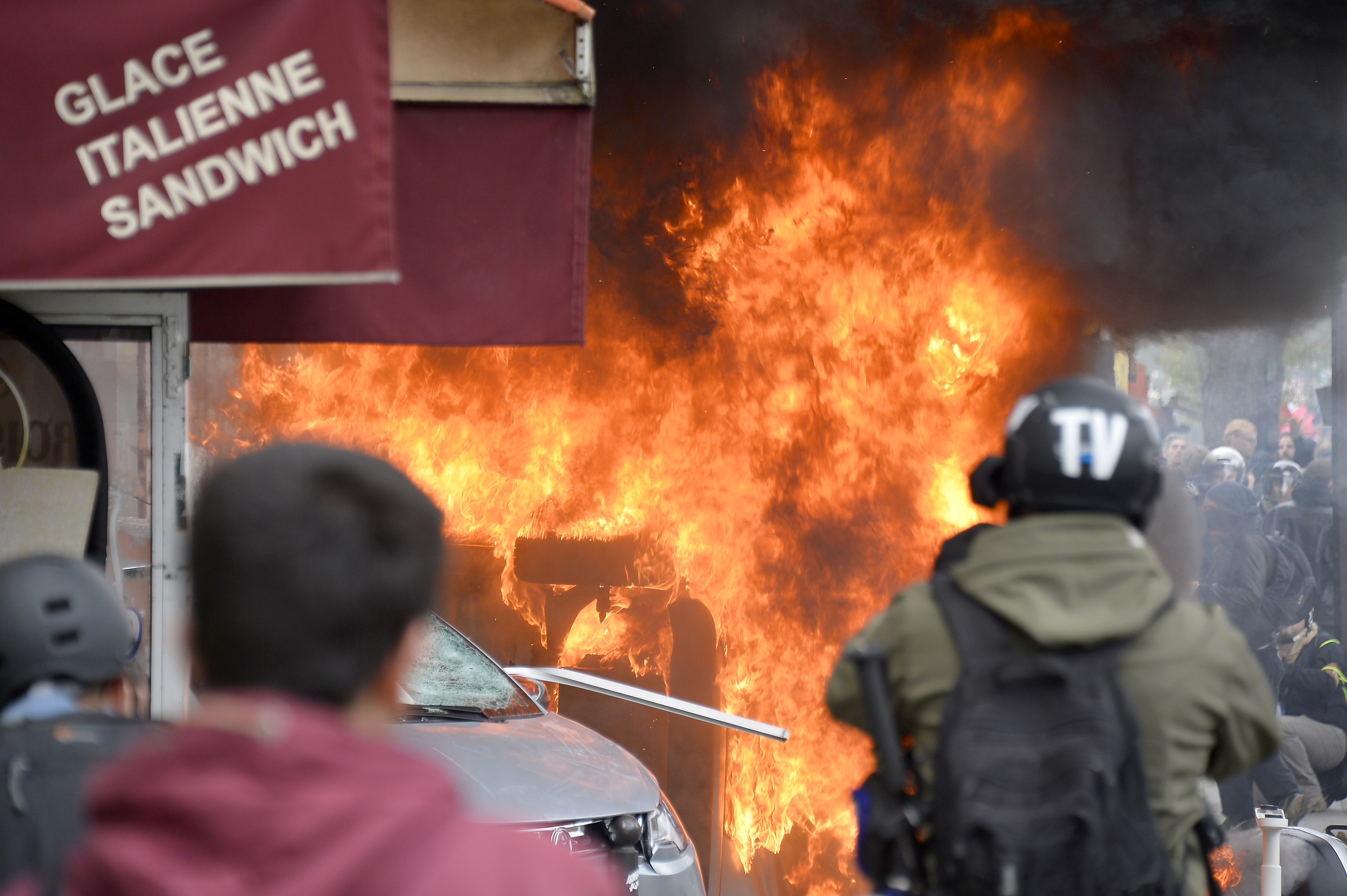Paris Burns As Rioters Attack Buildings And Vehicles On May Day