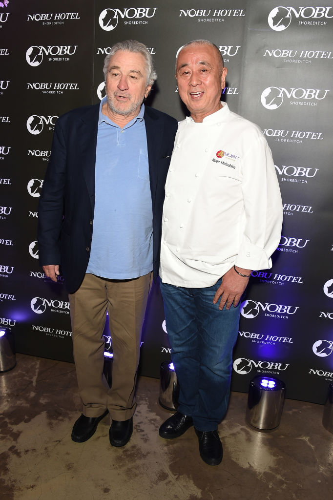 Robert De Niro and Nobu Matsuhisa at Nubo Shoreditch Launch
