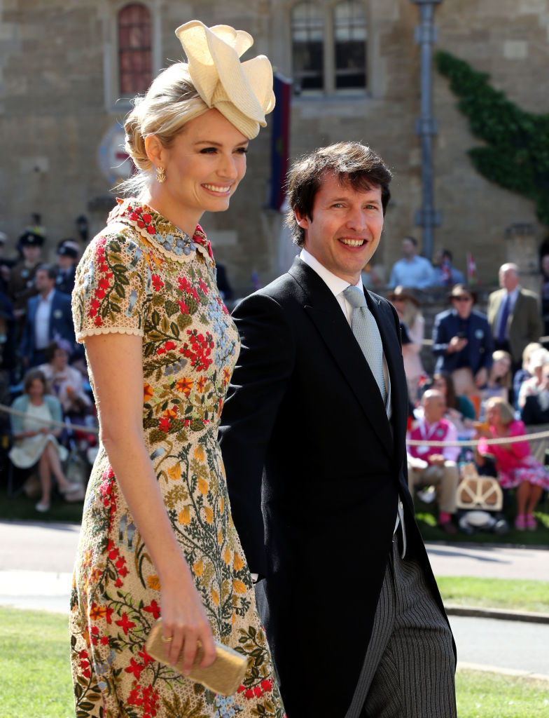 James Blunt and his wife at the Royal Wedding