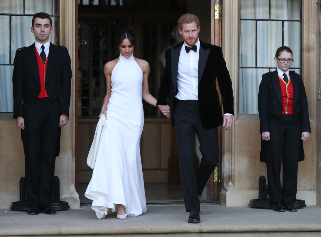 Prince Harry and Meghan Markle after wedding