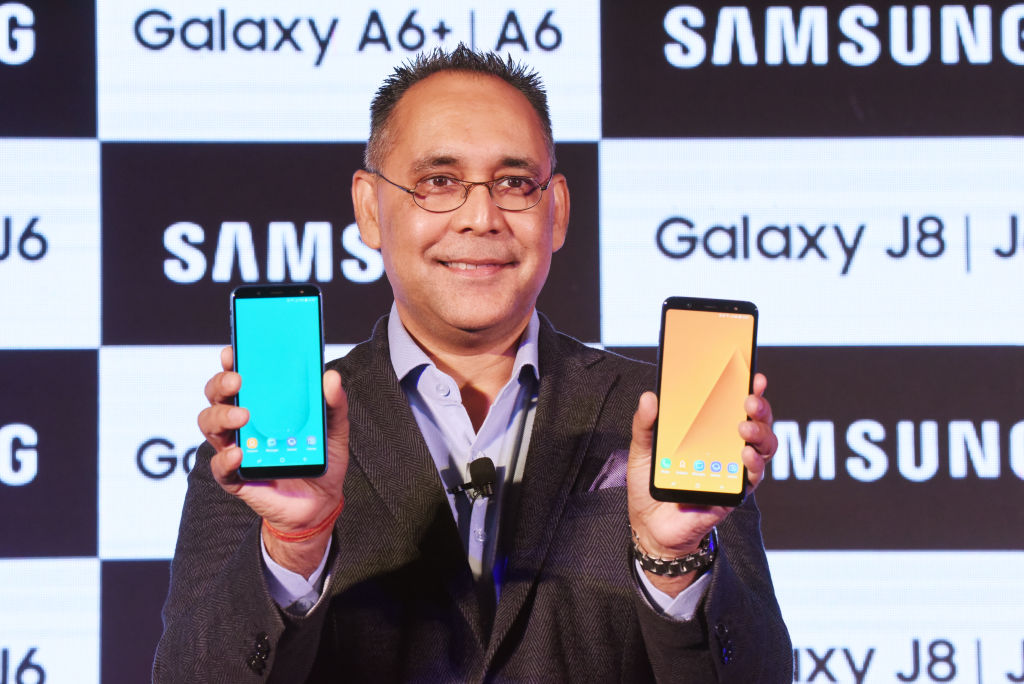 Mr.Manu Sharma Vice president of Samsung India launches Samsung new Galaxy J