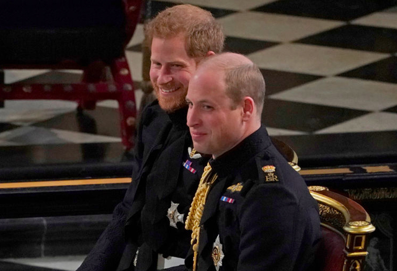 Prince Harry and Prince William at Harry and Meghan's wedding