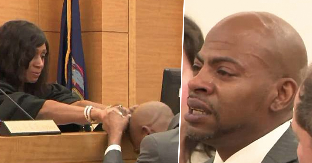 Man Weeps And Holds Hand Of Judge Who Exonerated Him Of Crime He Didn't Commit