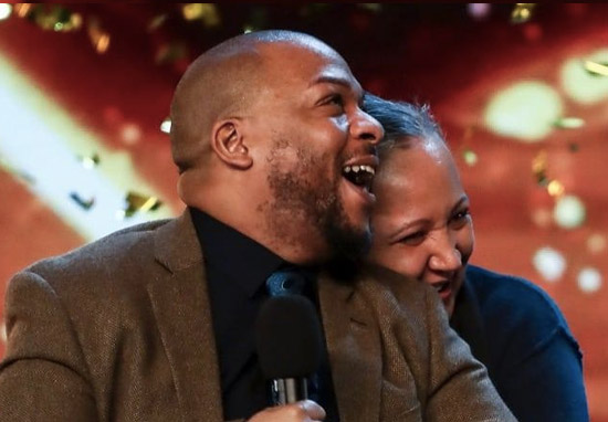 Lifford Shillingford and his wife on Britain's Got Talent