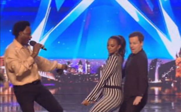 Dancing on stage Britain's Got Talent Alesha Dixon and Declan Donnelly