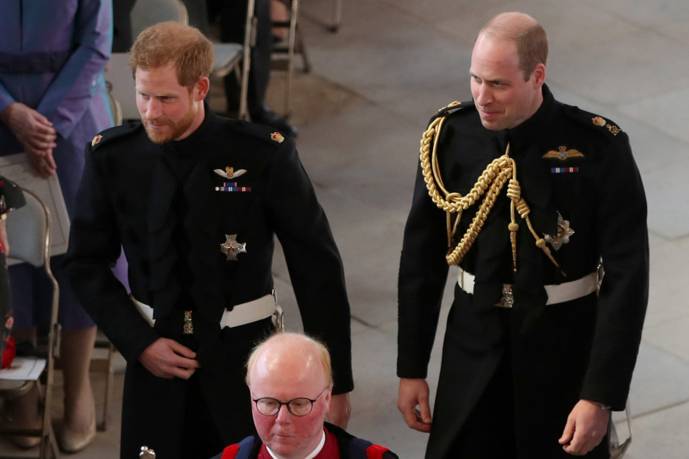 Prince Harry and Prince William at the Royal Wedding of Harry