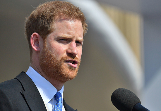 Prince Harry is attacked by bee