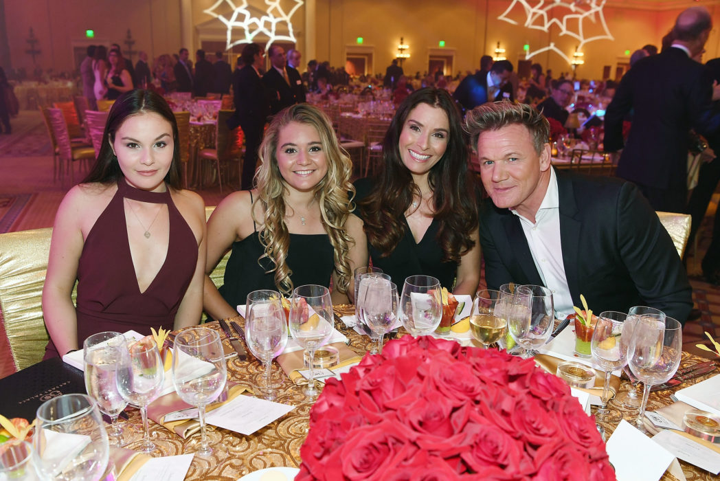 gordon ramsay with wife Tana Ramsay and two daughters
