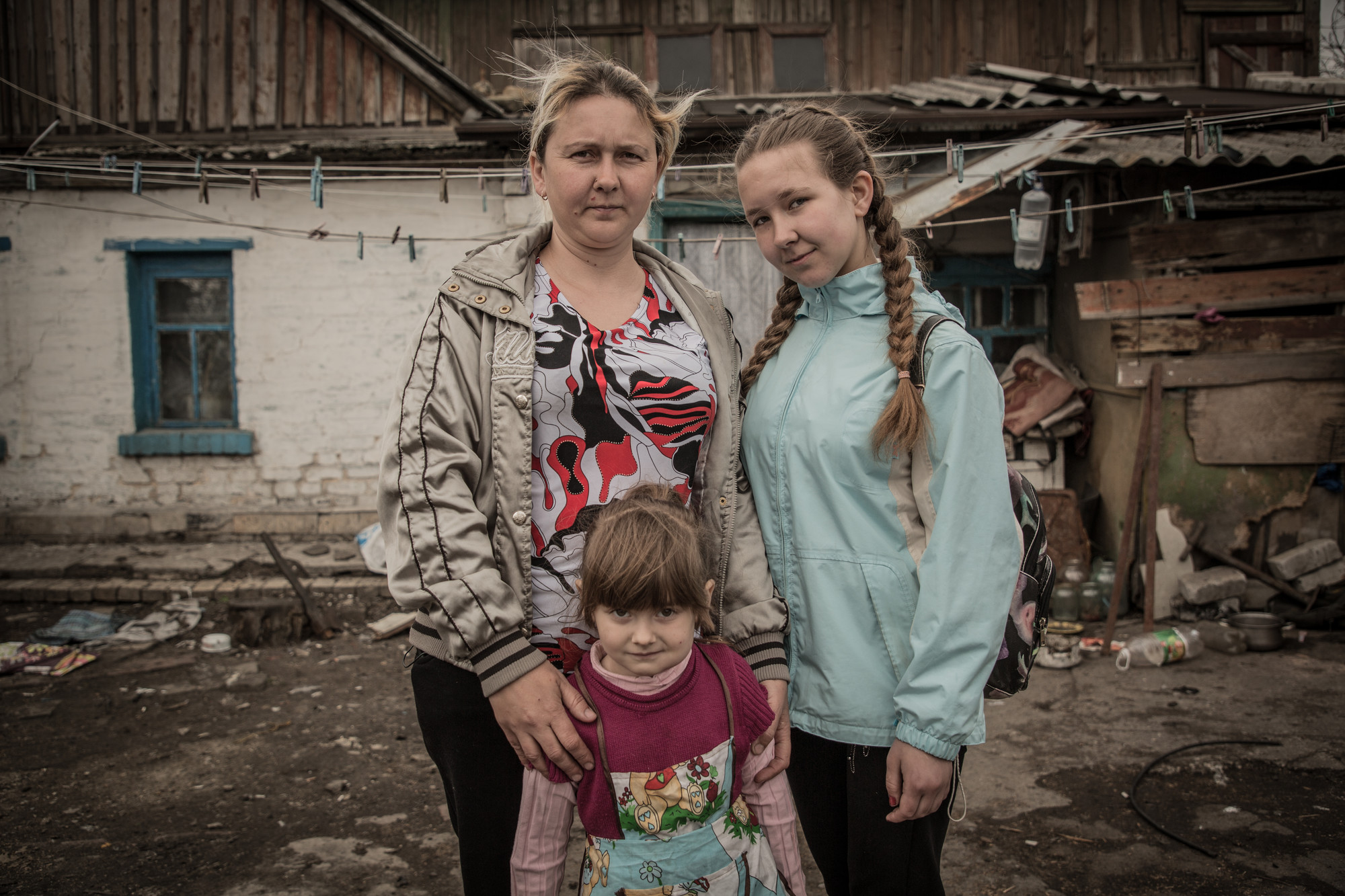 olha and family in eastern Ukraine