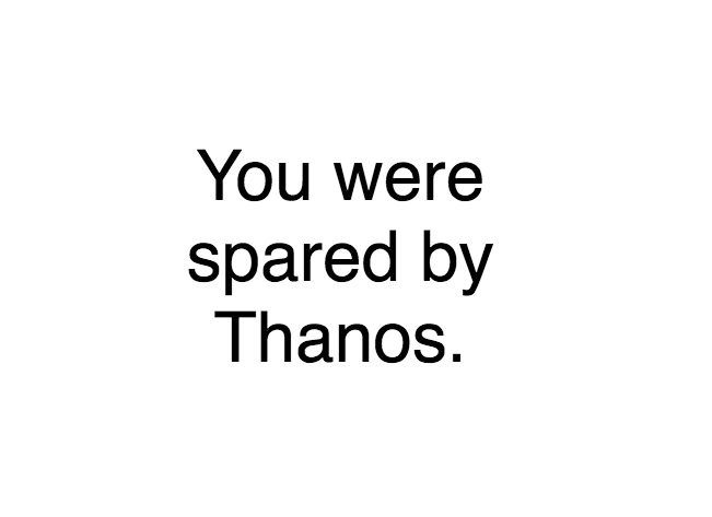 Website Lets You Find Out If You Survived The End Of Infinity War