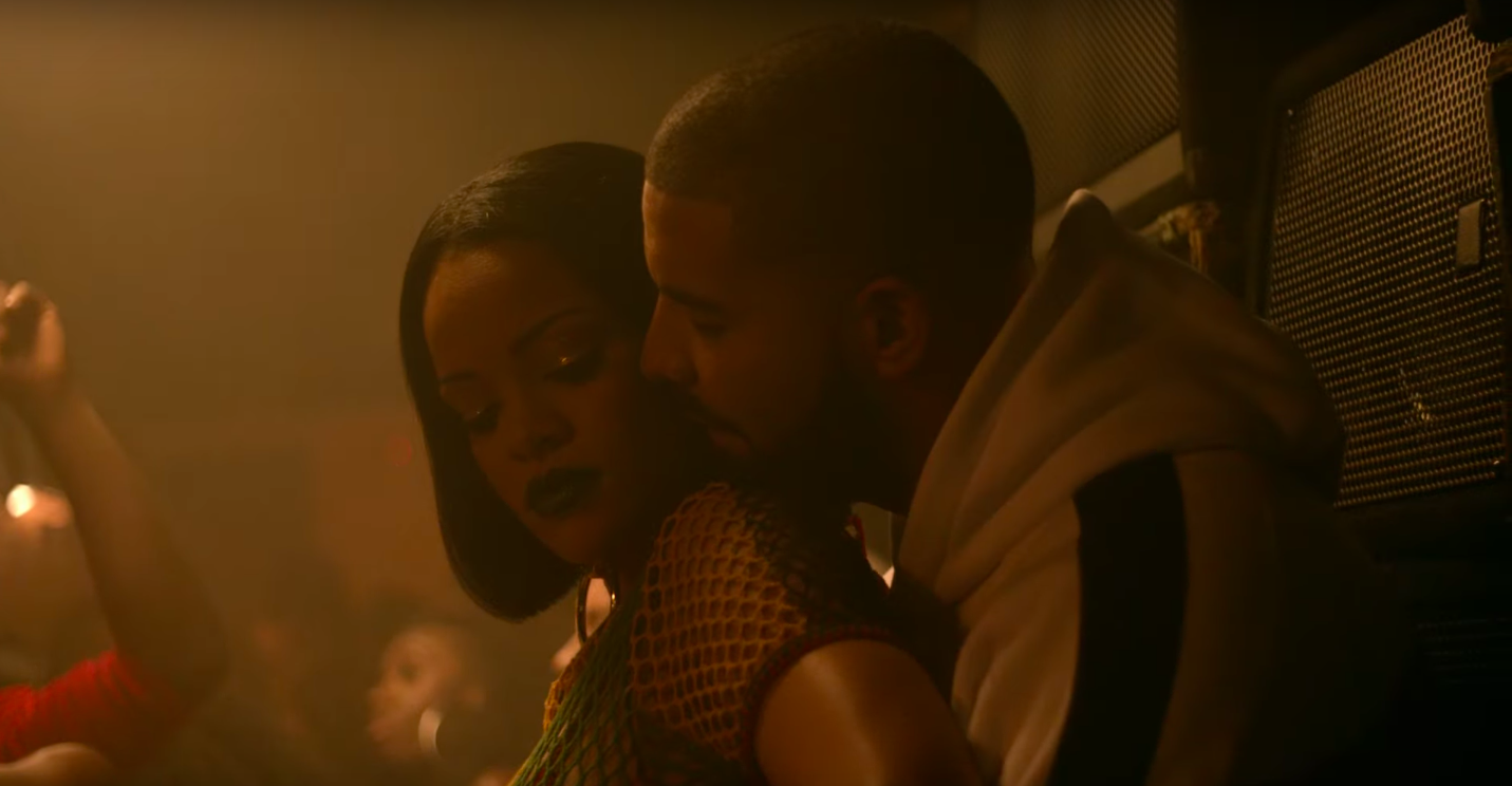 Rihanna and Drake in the Work video