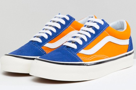 Vans Anaheim Old Skool Trainers In Og Blue And Gold asos irn-bru