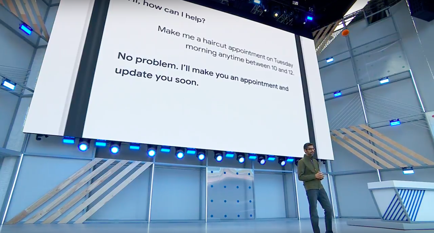 Google Just Gave Stunning Demonstration Of Assistant Making A Phone Call Screen Shot 2018 05 09 at 10.12.28