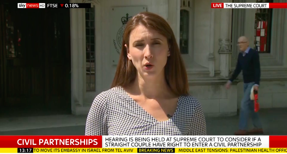 Old Man 'Caught Out' In Background Of Live News Report