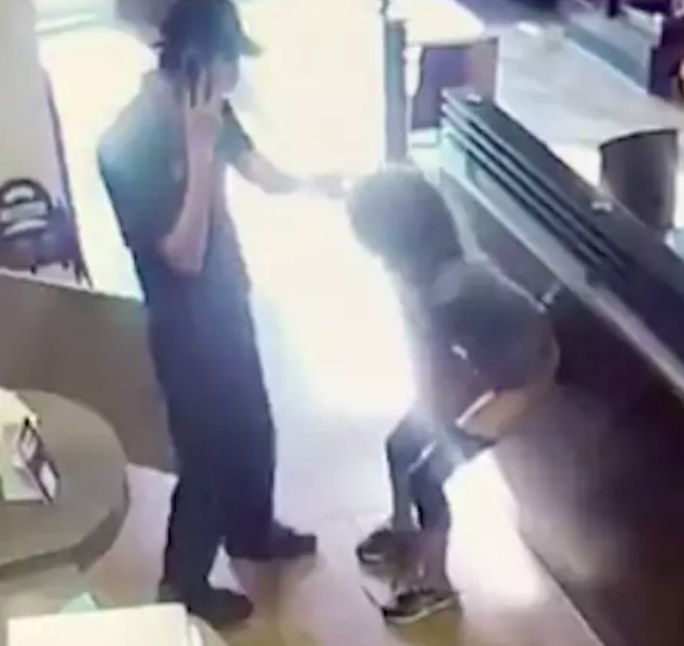 woman throws poo tim hortons