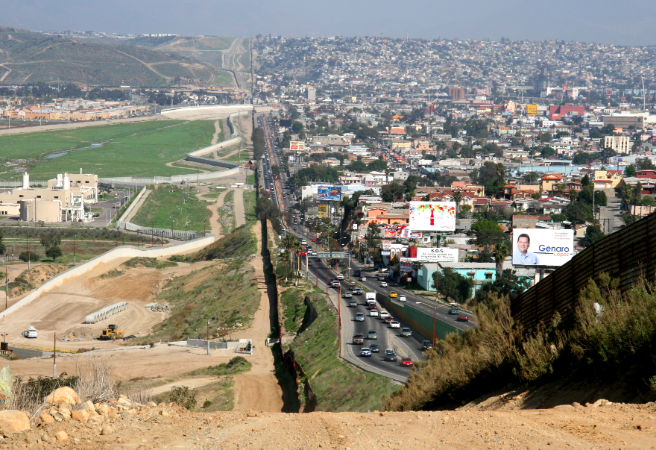 Mexico border with United States of America