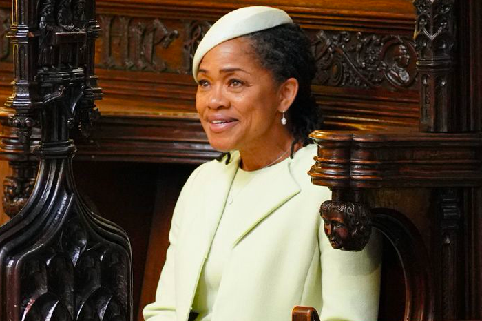 Doria Ragland at the Royal Wedding