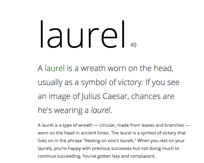 Laurel word definition