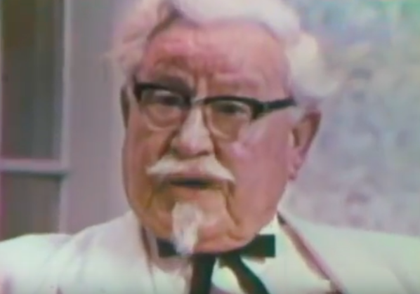 Colonel Sanders old tv ad