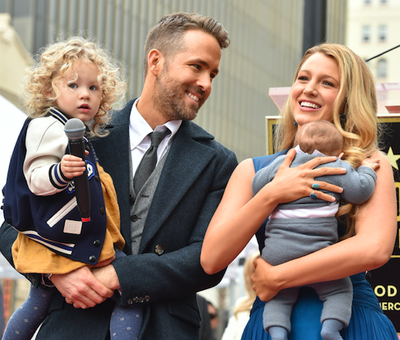 Ryan reynolds, blake lively, and family