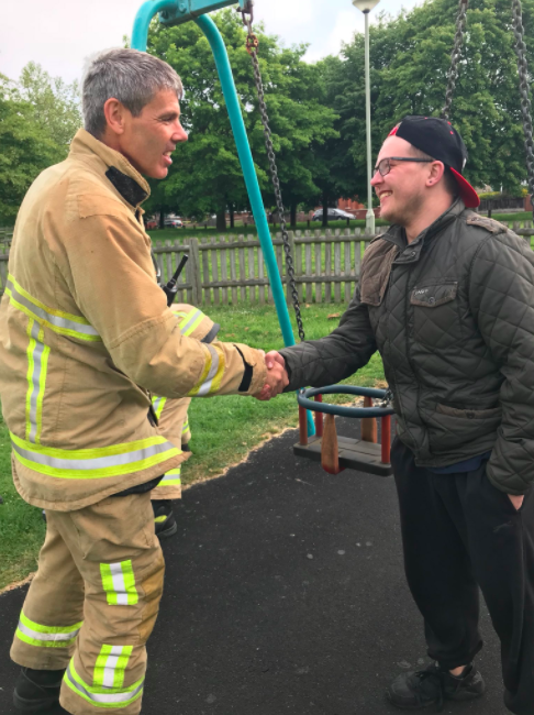 Firefighters Rescue Man Stuck In A Kid's Swing For Hours