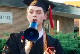 Student does speech in spite of ban