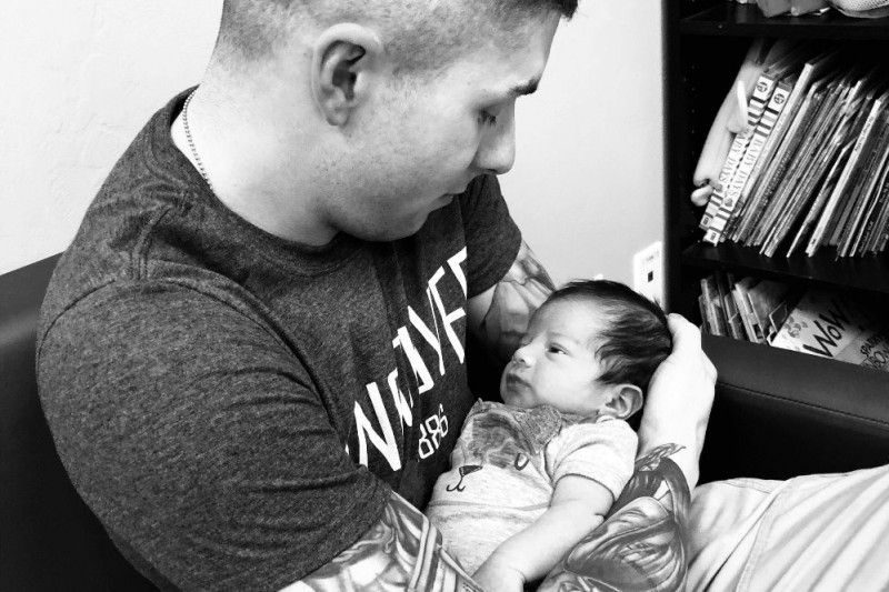 Sgt. Steven Garcia wants custody of 'his' baby