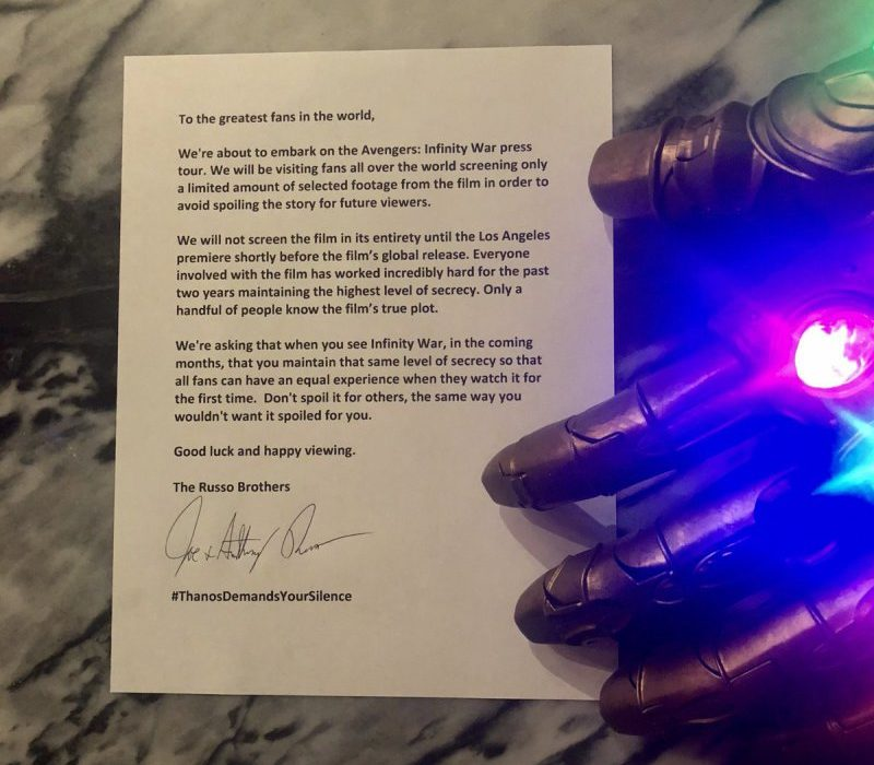 Russo Brothers Letter to fans