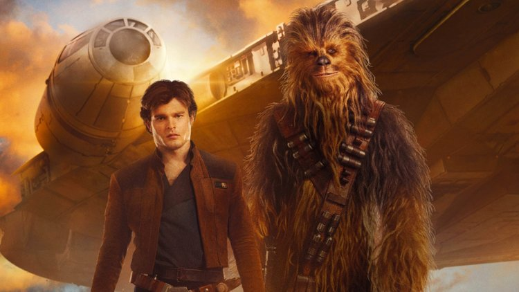 Han Solo and Chewbacca in Solo: AA Star Wars Story poster