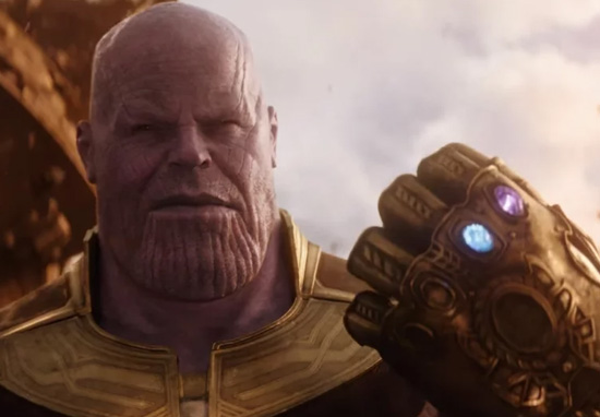 Thanos and his Infinity Gauntlet