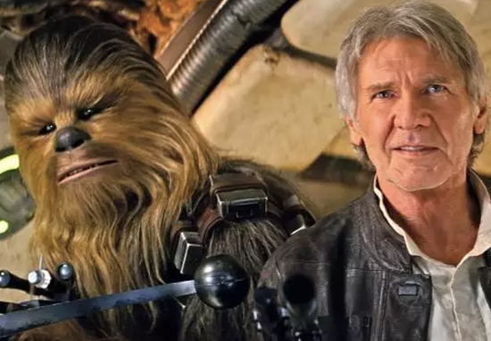 Star Wars Solo Story Harrison Ford and Chewie