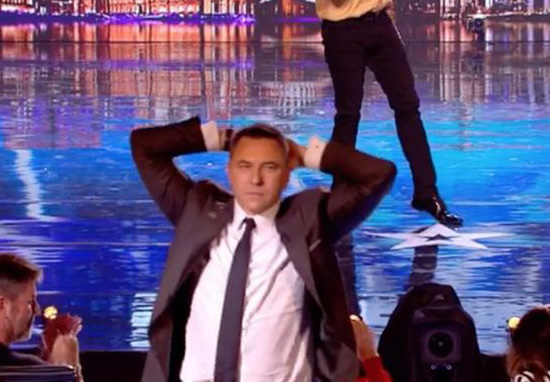 David Walliams Dancing on Britain's Got Talent