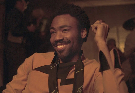 Donald Glover as Lando Calrissian in Star Wars