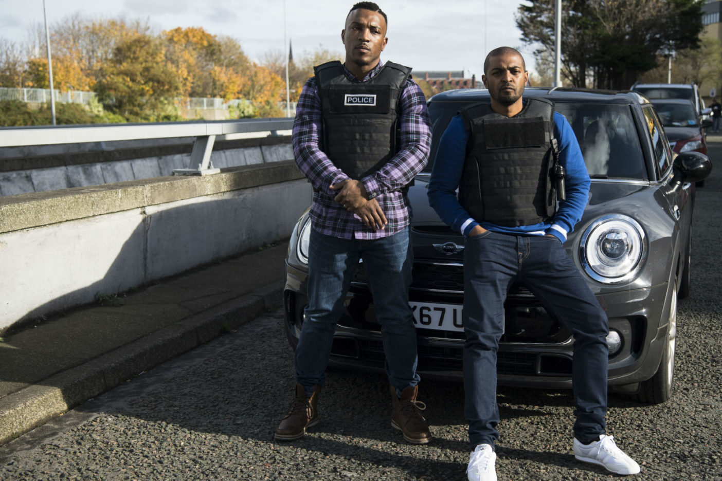 Still from Bulletproof staring Noel Clarke and Ashley Walters