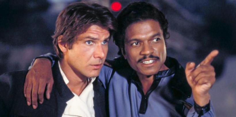 Lando and Han Solo (Harrison Ford and Billy Dee Willams)