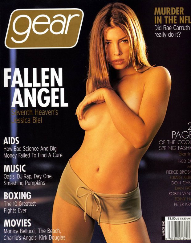 Jessica Biel poses topless on Gear magazine