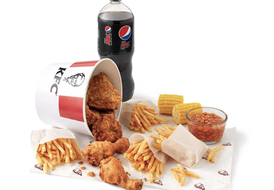 A six piece Family Feast KFC bucket