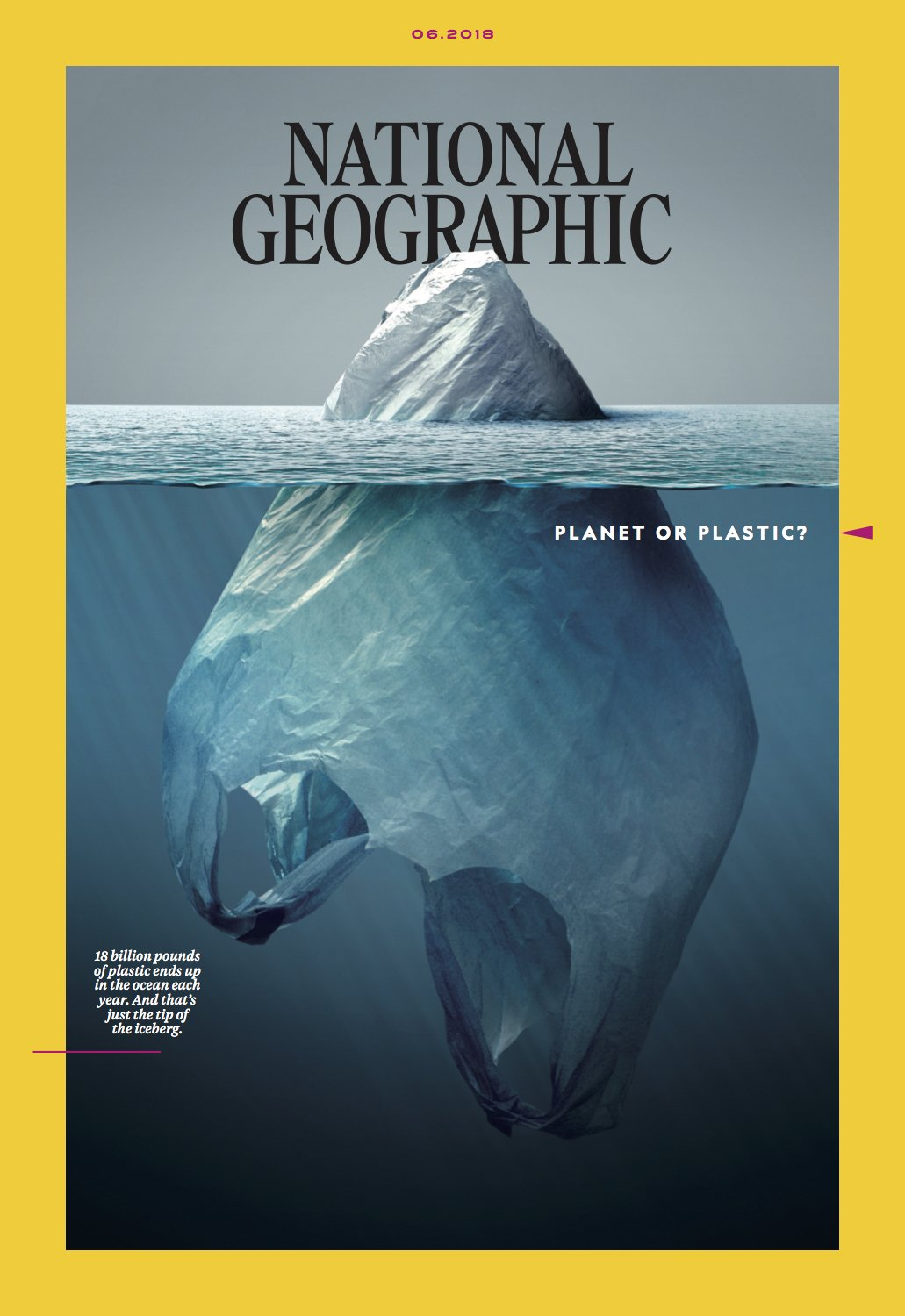 National Geographic plastic iceberg